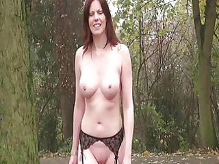 uk lady flashing with holly inside redhead al