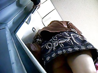 upskirt into train