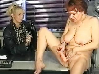 german interviewer helps woman masturbate  clip