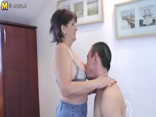 elderly grandmothr bonks and licks her toyboy