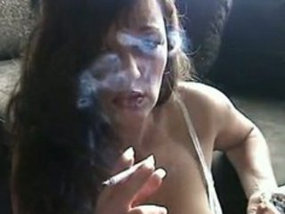 hot & horny brunette smoking for you
