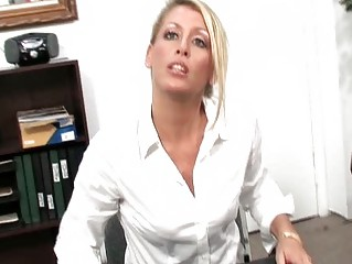 desperate workplace secretaries masturbating with