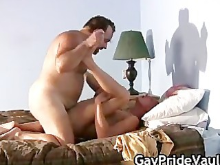 blonde guy is banged by gay bear part6