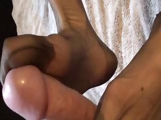 footjob pantyhose