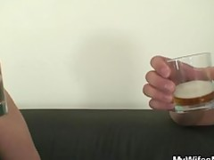 cock hungry milf jumps on her son on law