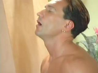 bottom aged and juvenile men dual penetration