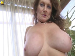 giant boobed elderly getting wet and wild