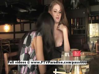 faye and larysa super homosexual women flashing