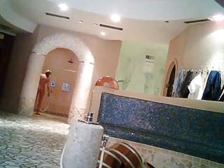 sauna bathroom voyeur interracial showed
