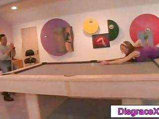 lean chick with huge round tits does lapdance