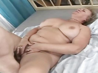 My sexy grandmother gets old fat penis